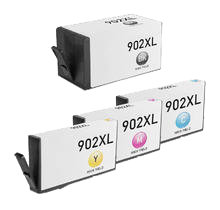 HP 902XL (BCMY) Compatible Ink Cartridge Set- Black Cyan Yellow Magenta High Yield