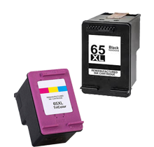 Compatible HP 65XL Black and Color Ink Cartridge Set High Yield