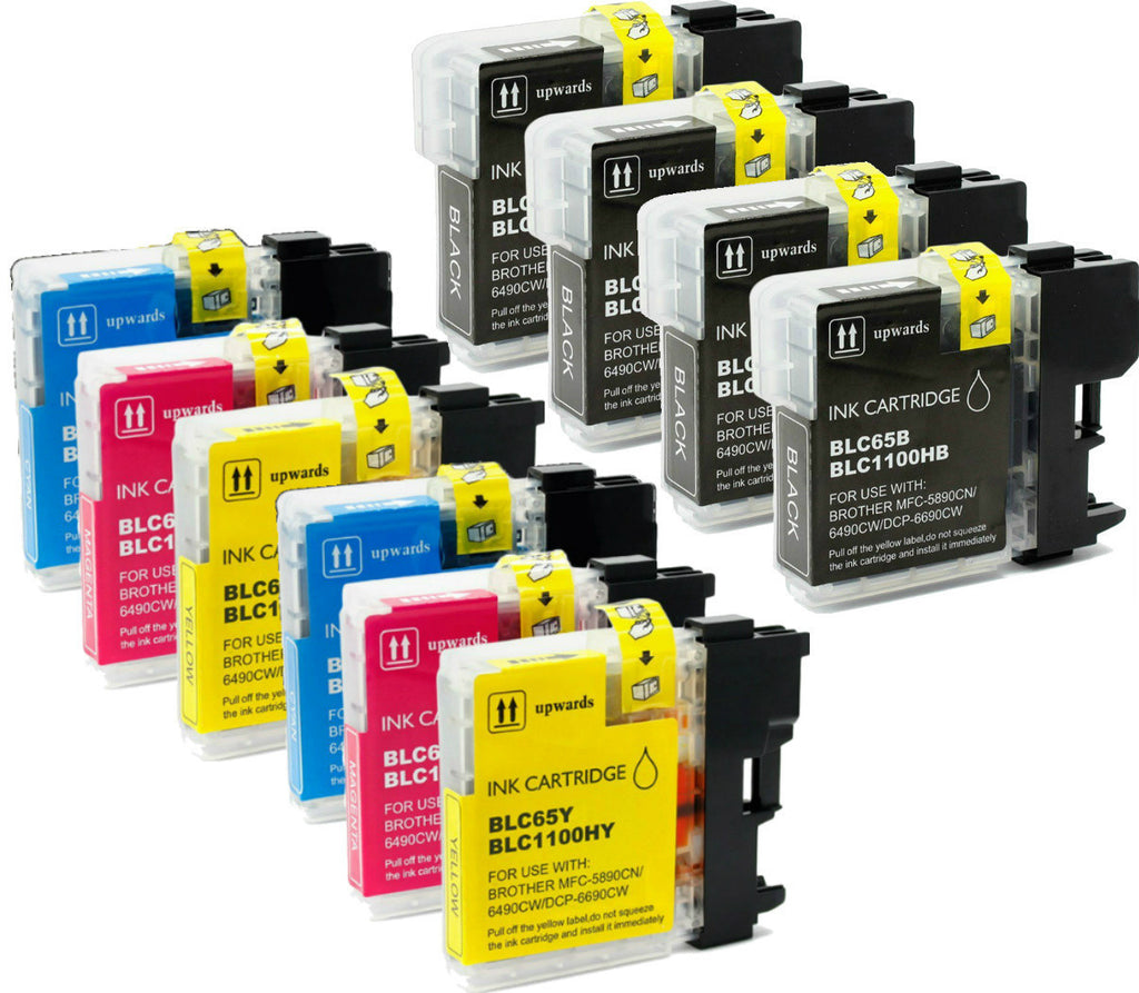 Brother LC-65 10pk (4BK/2CMY) Yellow compatible ink - Buy Direct!