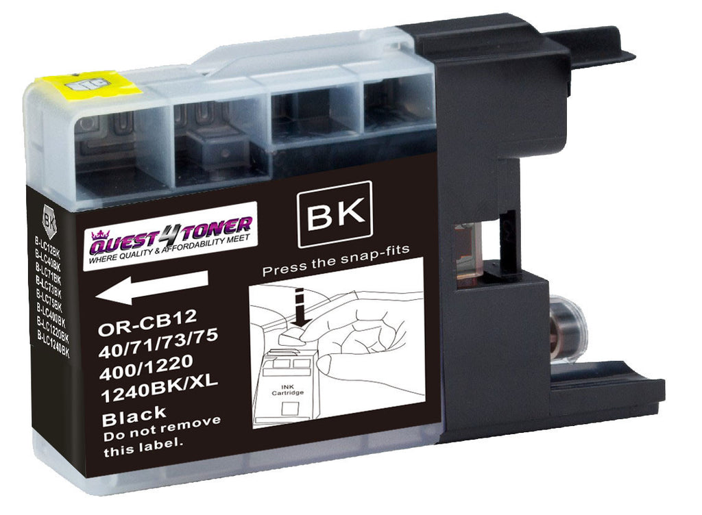 Brother LC-75BK Black compatible ink - Buy Direct!