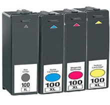 Lexmark 100XL Set Black / Cyan / Magenta / Yellow  compatible ink - Buy Direct!
