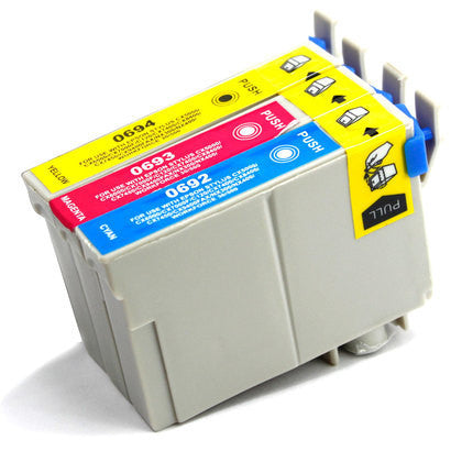 Epson T069 3pk color (C/M/Y) Yellow compatible ink - Buy Direct!