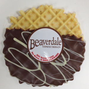 Chocolate-dipped Pizzelles