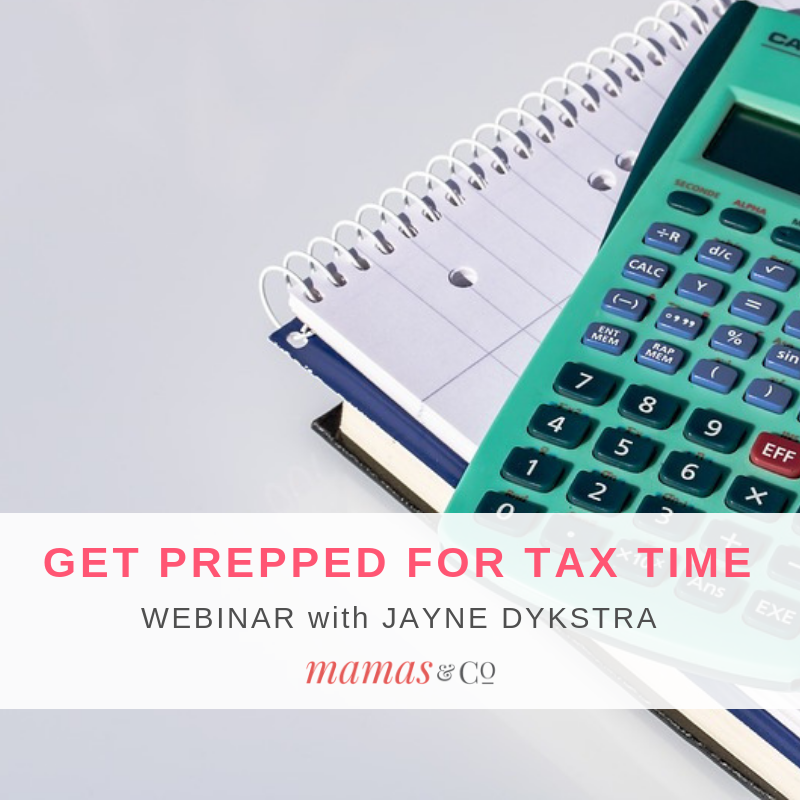 Webinar: Getting Prepped for Tax Time