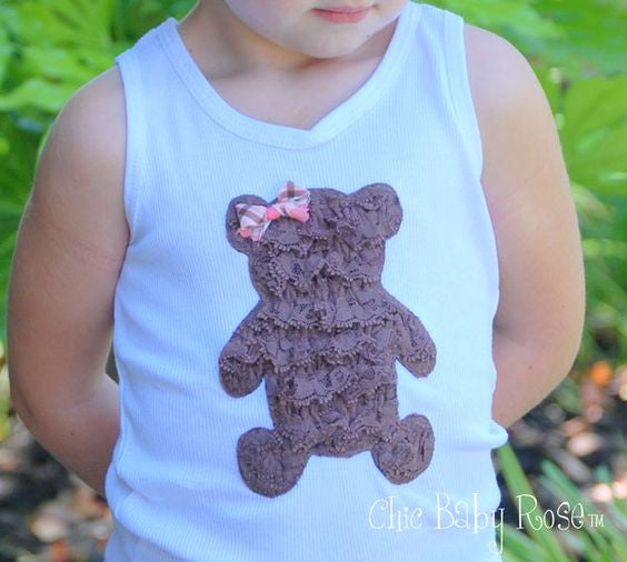 Lace Teddy Bear Top