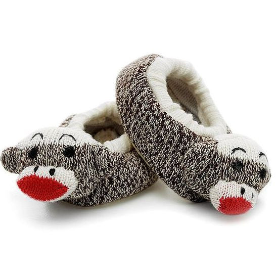 Infant Sock Monkey Slippers