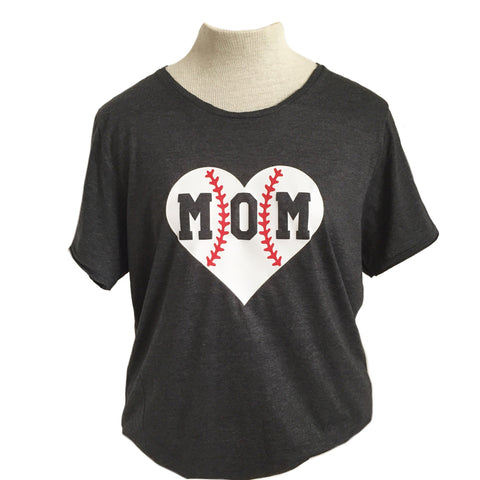 Baseball or Softball Mom Adult Tee