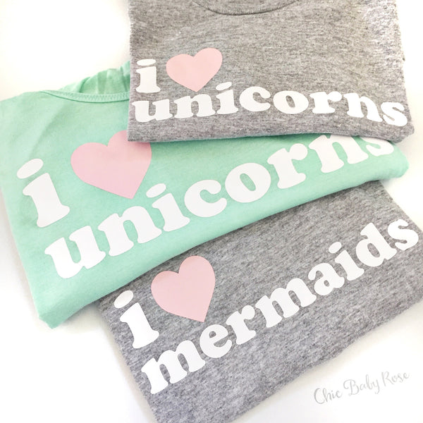 I Love Unicorns Adult Tank