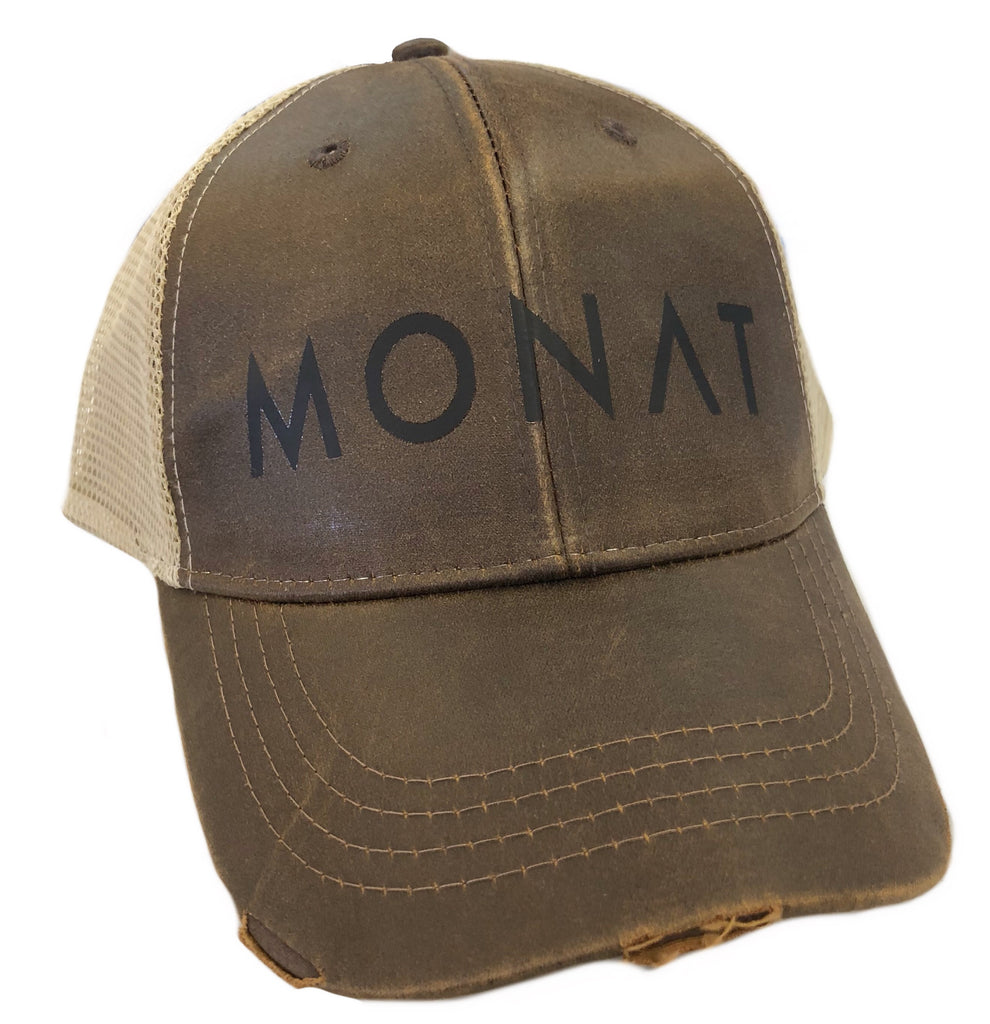 Monat Faux Leather Hat