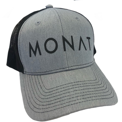 Monat Grey and Black Hat