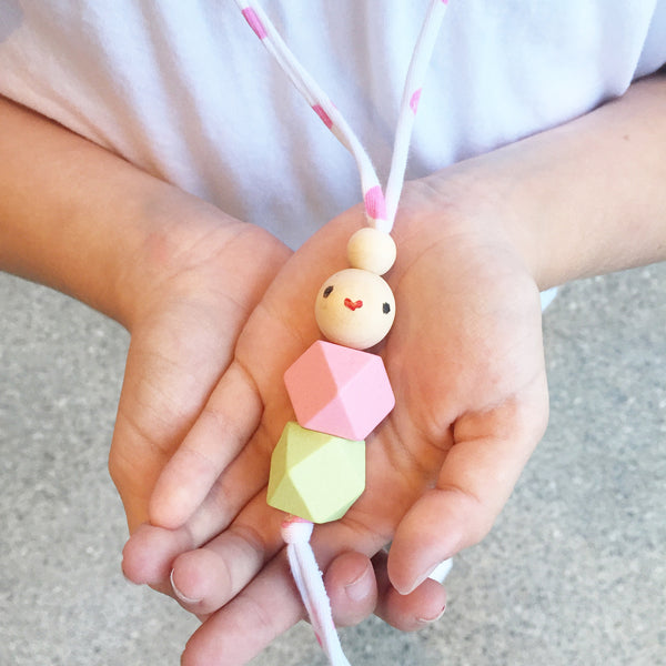 Wooden Dolly Necklace