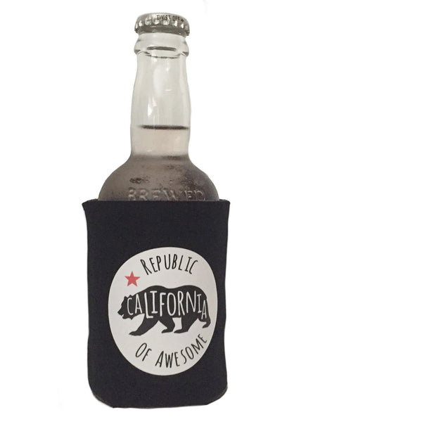 Coolie Can & Bottle Sleeve -  Black California