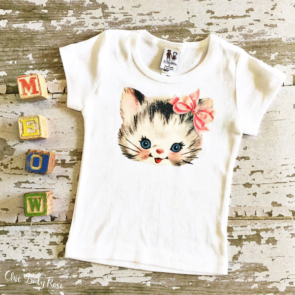 Retro Kitten Child Top