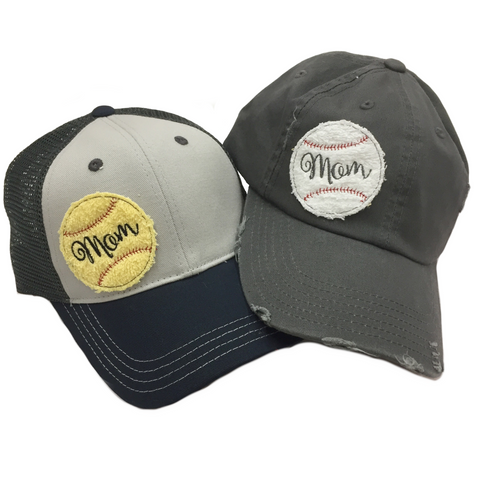 Baseball and Softball Mom Hats