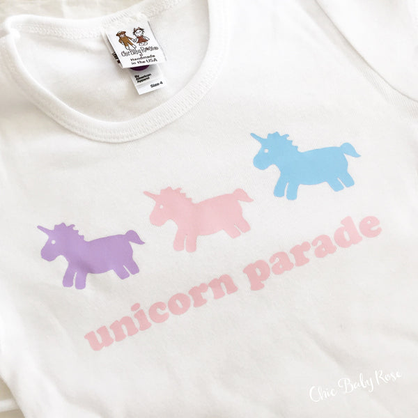 Unicorn Parade Child Top