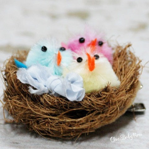 Bird Nest Hair Clip