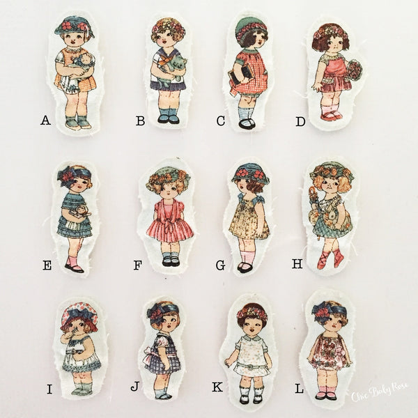 Vintage Dolly Clips