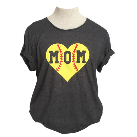 Softball Mom Adult Tee