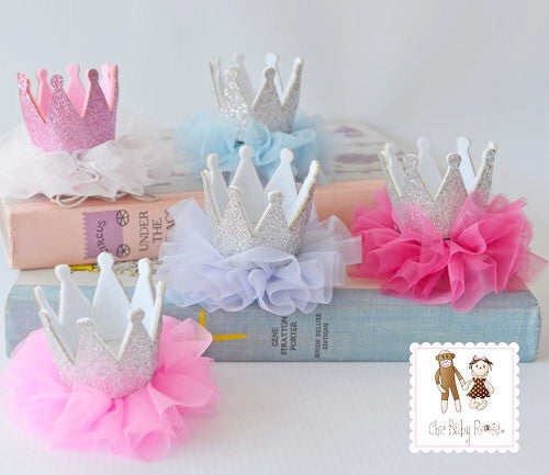 Organza Princess Crown Poof Available in 10 Colors