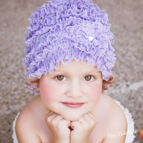 Lace Beanie - Toddler & Big Girl  Available in 21 Colors