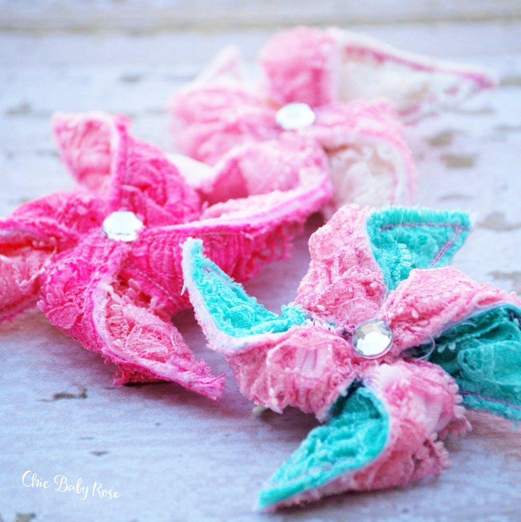 Lace Pinwheel Hair Bow