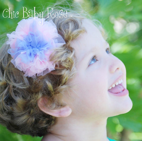 Fluffy Saltwater Taffy Rosette Hair Bow Available in 21 Colors