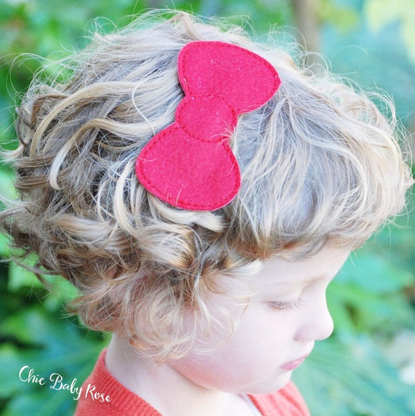 Large Wool Felt Hair Bow