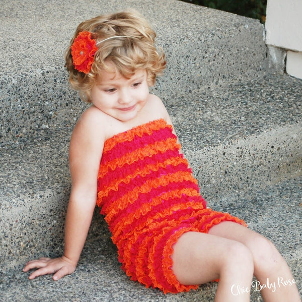 SALE Multicolor Petti Rompers