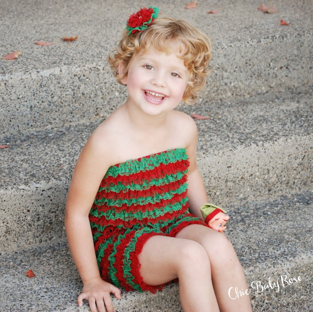 Christmas Lace Petti Romper - All Sizes 50% Off