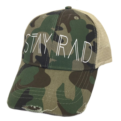 Stay Rad Camo Trucker Hat