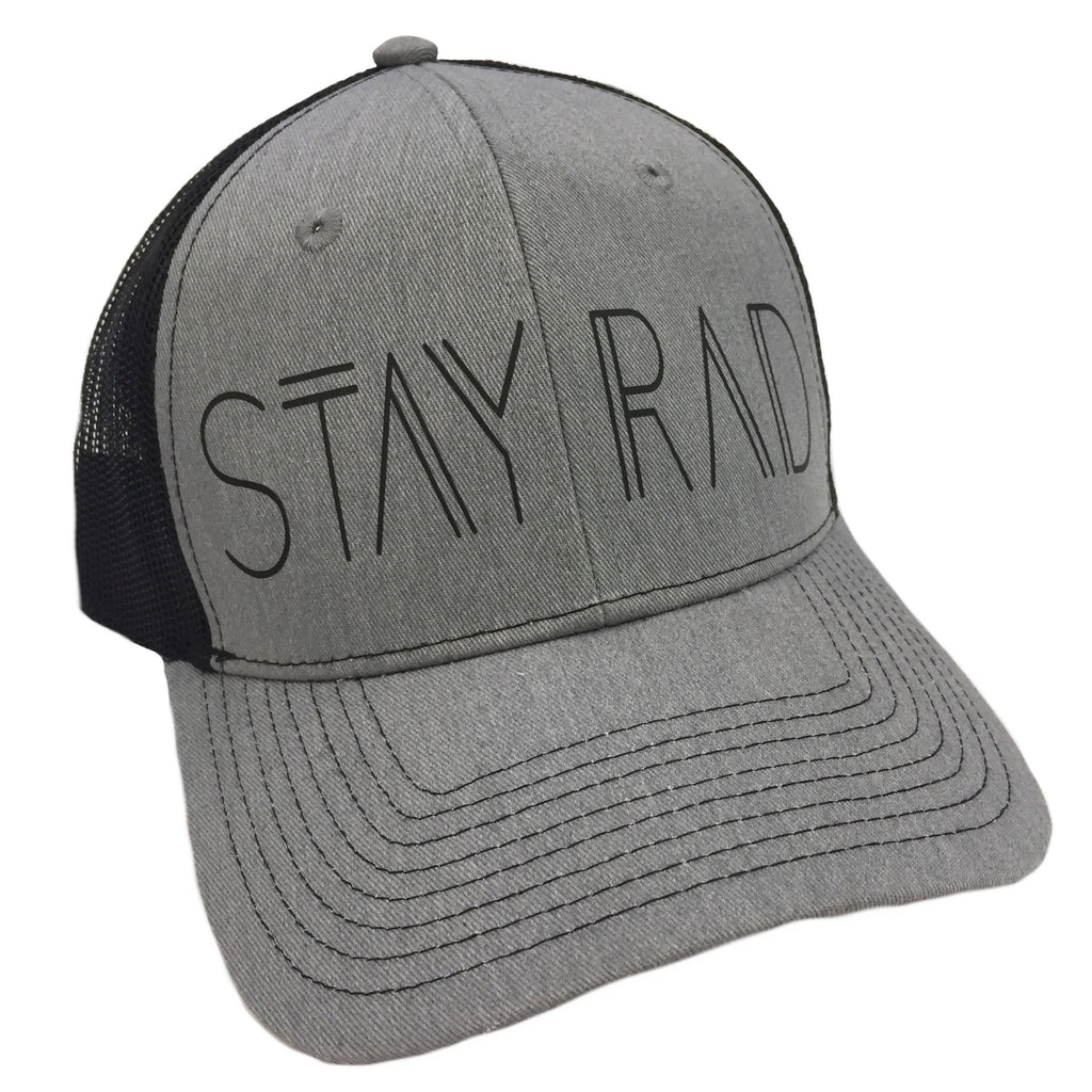 Stay Rad Grey and Black Trucker Hat