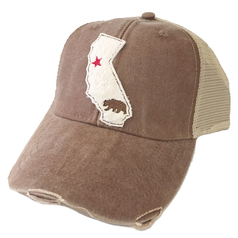 California Cream State Hat Available in 3 Colors