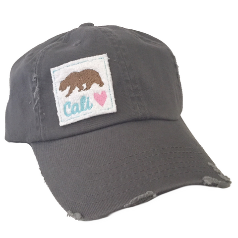 Cali Love Distressed Hat in Two Colors