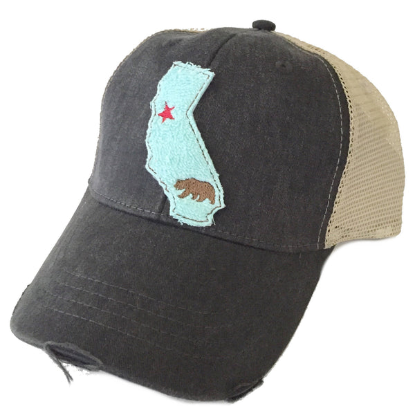 California Aqua State Hat Available in 3 Colors