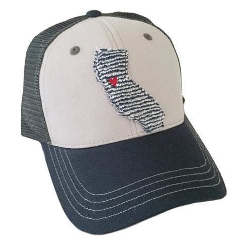 California Navy Stripe Tritone Hat
