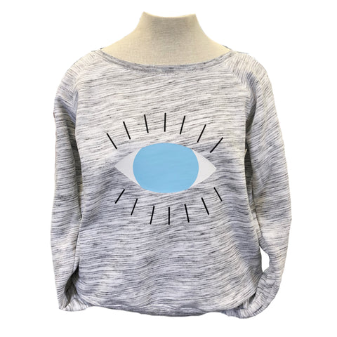 All Knowing Evil Eye Wide Neck Adult Sweatshirt