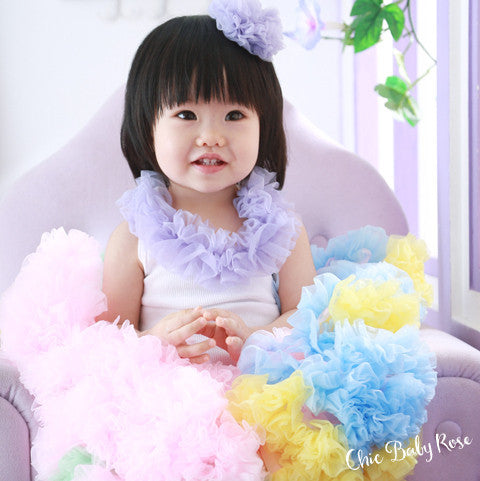 Fluffy Chiffon Rosette Hair Bow Available in 21 Colors