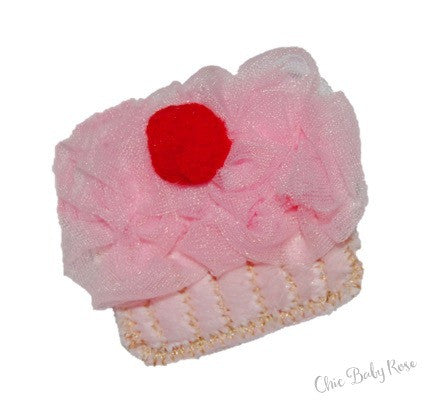Fluffy Cherry Cupcake Hair Clip Available in 21 Colors