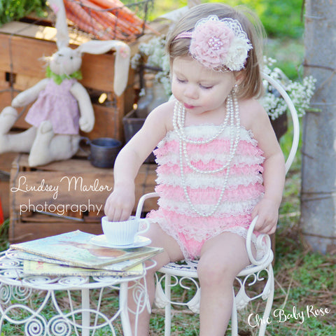 Big Girl & Toddler Multicolor Lace Petti Rompers in 7 Combos 50% Off