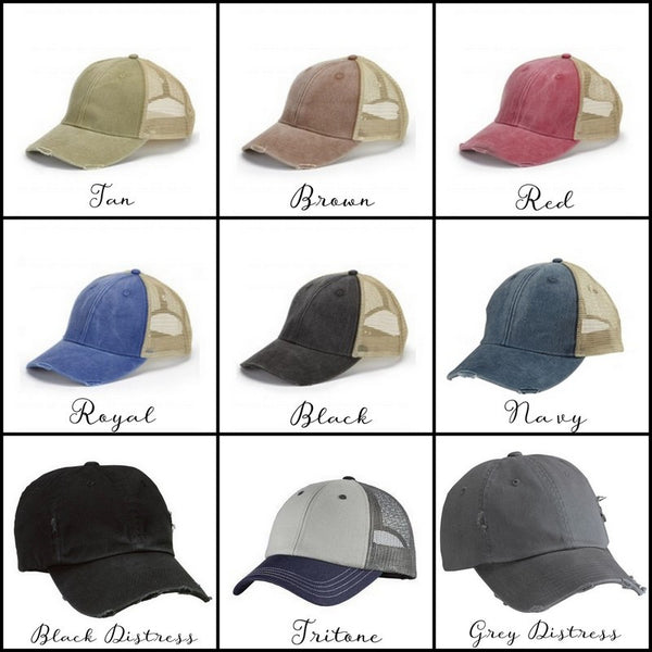 Baseball & Softball Mom Hats - Available in 9 Colors