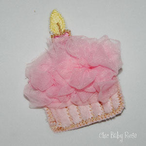 Fluffy Birthday Cupcake Hair Clip Available in 21 Colors