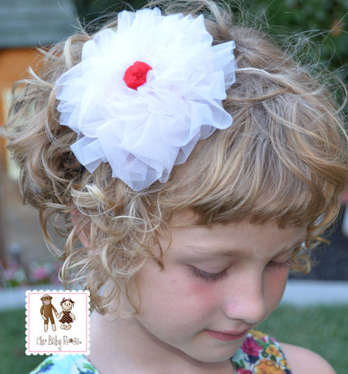 Organza Cherry Cupcake Poof Available in 10 Colors