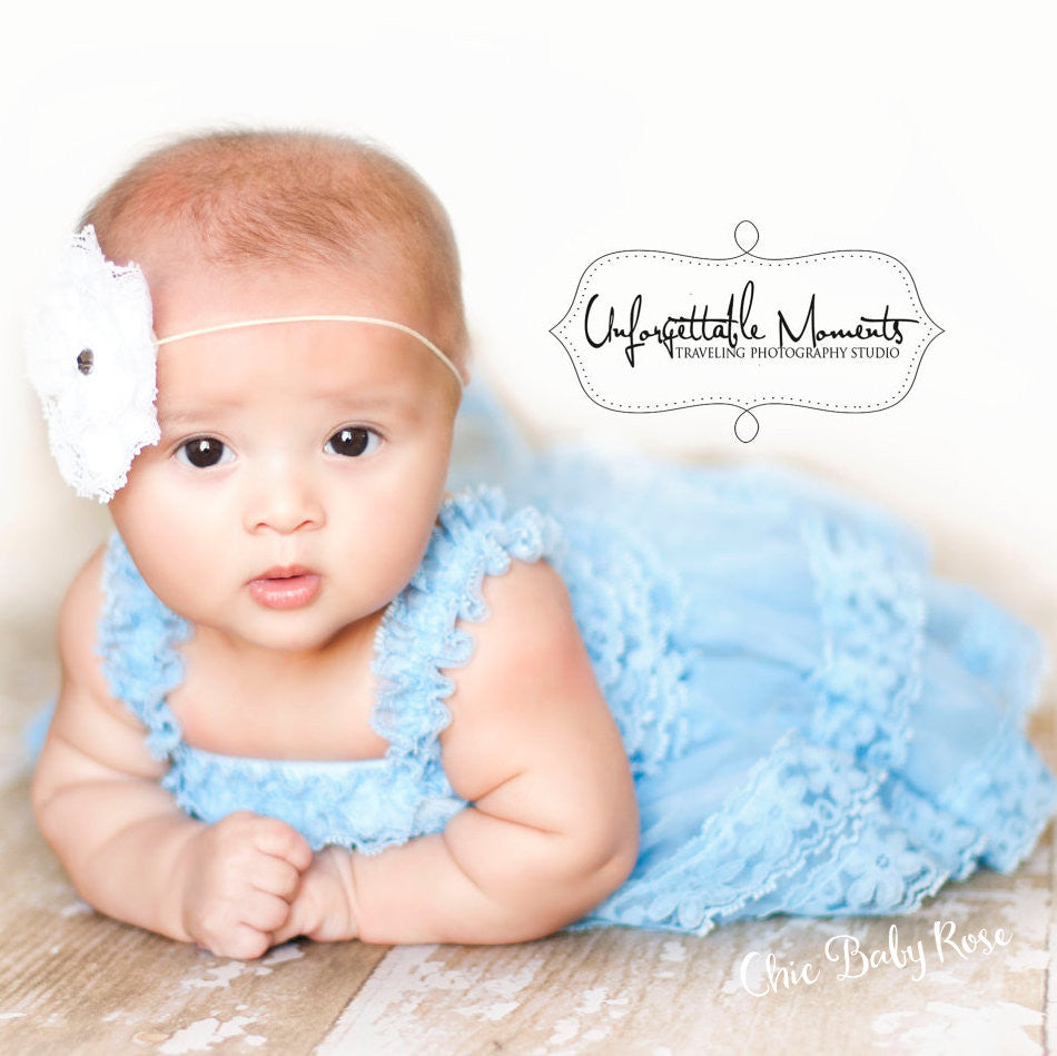 Newborn Lace Petti Dress Available in 7 Colors