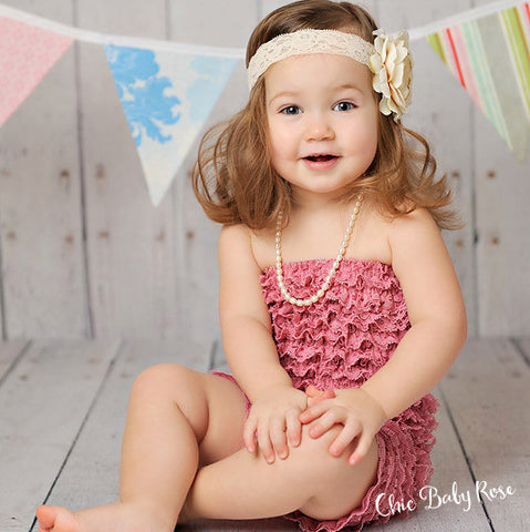 Big Girl Lace Petti Romper - Select Colors 50% off