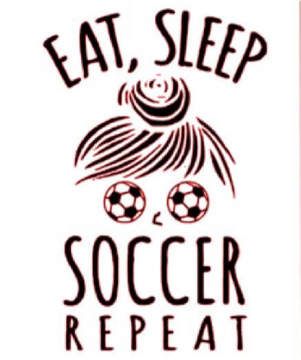 Eat Sleep Soccer Repeat Design