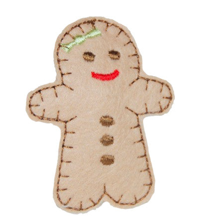Gingerbread Cookie Hair Clip