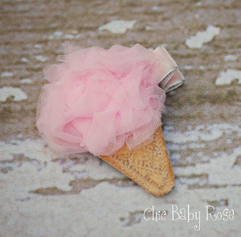 Fluffy Ice Cream Hair Clip Available in 21 Colors