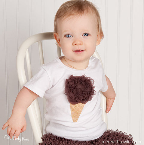 Fluffy Ice Cream Top Available in 21 Colors