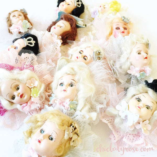 Vintage Doll Brooches