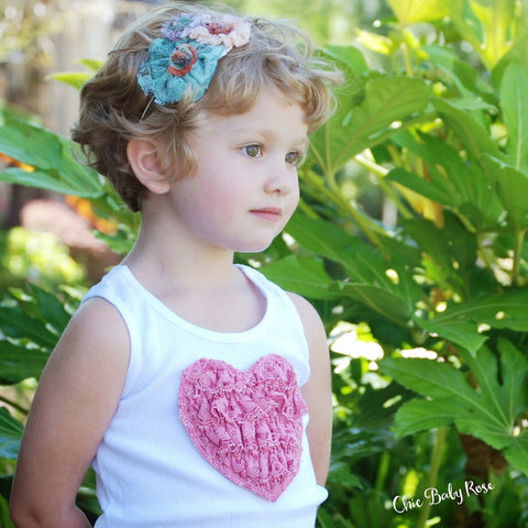 Lace Ruffle Heart Top Available in 20 Colors